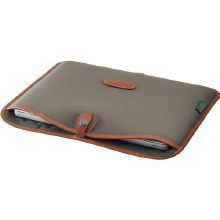 "Billingham 13"" Laptop Slip (Sage FibreNyte / Tan Leather)"