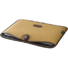 "Billingham 15"" Laptop Slip (Khaki FibreNyte / Chocolate Leather)"