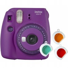 Fujifilm Instax Mini 9  Clear Purple (inc 3 filters + 10 Shots)