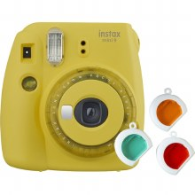 Fujifilm Instax Mini 9  Clear Yellow (inc 3 filters + 10 Shots)