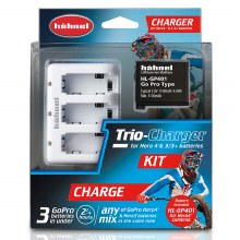 Hahnel Trio-Charger For Hero 4 3/3+ Battery Kit