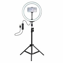 YouStar Content Creator Large 26cm Dimmable LED Ring Light with Phone Holder Tripod