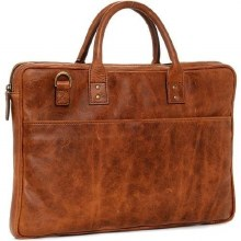 Ona Kingston Leather Briefcase - Antique Cognac