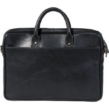 "Ona Kingston 15"" Leather Briefcase Black"