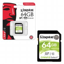 Kingston SDXC Canvas Select 64GB 80MB/s