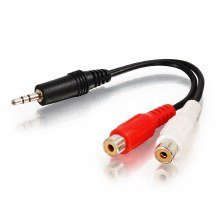 Cables2Go 3.5mm Stereo Male To Two RCA Stereo Female Y-Cable