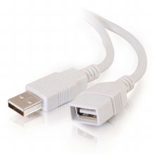 Cables To Go 3m USB A Male to A Female Extension Cable - White