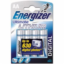 Energizer AA Lithium Batteries (4 Pack)