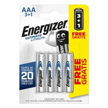 Energizer AAA Ultimate Lithium 4 Batteries