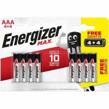 Energizer Max AAA LR03 Alkaline Batteries 4+4