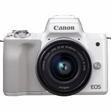 Canon EOS M50 White with EF-M 15-45 IS STM