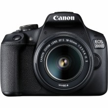 Canon EOS 2000D Camera with EF-S 18-55mm IS II Lens