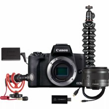 Canon EOS M50 Mark II Black Camera with Streaming Kit