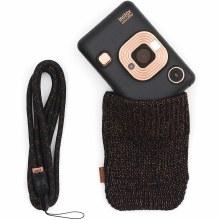 Fujifilm Instax Mini LiPlay Elegant Black Instant Camera Bundle