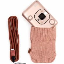 Fujifilm Instax Mini LiPlay Blush Gold Instant Camera Bundle