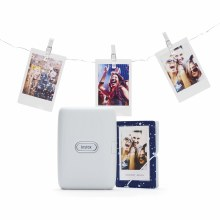 Fujifilm Instax Ash White Mini Link Printer Bundle