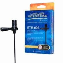 Edutige ETM-006 Omnidirectional 3 Pole Microphone w/ 1.3m cable