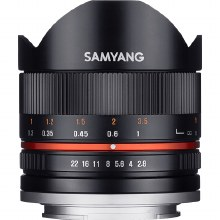 Samyang   8mm F2.8 UMC Fisheye Black Lens for Fujifilm X Camera