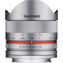 Samyang   8mm F2.8 UMC Fisheye Silver Lens for Fujifilm X Camera