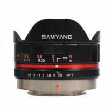 Samyang AF  7.5mm F3.5 Fisheye Black Lens for Micro 4:3 Camera