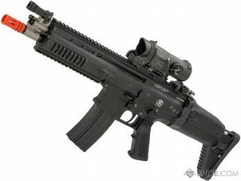 Cybergun FN Herstal Licensed Full Metal SCAR Light Airsoft AEG Rifle by VFC (Model: CQC / Black)