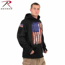 Rothco US Flag Concealed Carry Hoodie- M