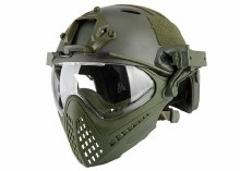 Tactical Piloteer Bump Helmet Mask - OD