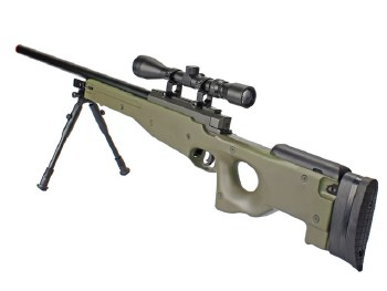 Well MB01 L96 Sniper Rifle w/ Scope & Bi-Pod in OD
