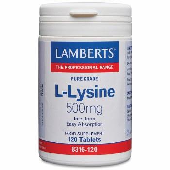 Lamberts L-Lysine 500mg 120 Tablets