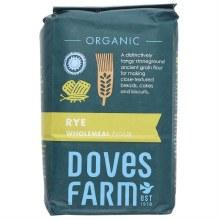 Doves Organic Wholegrain Rye Flour 1kg