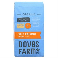 Doves Organic White Self Raising Flour 1kg