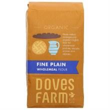 Doves Organic Fine Plain Wholemeal Flour 1kg