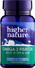 Higher Nature Fish Oil Omega 3 1000mg
