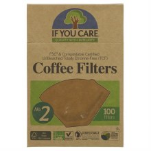 Coffee Filters No.2 Unbleached 100filters