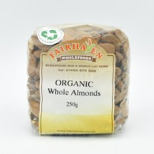 Almonds Whole Org 250g
