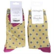 4-7 Mimosa Yellow Bamboo Socks