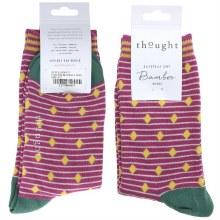 4-7 Magenta Pink Bamboo Socks