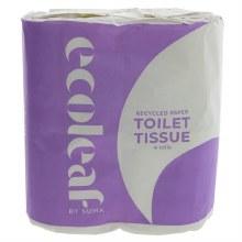 Ecoleaf 4 Pack Toilet Rolls
