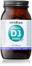 Viridian Vegan Vitamin D3 2000iu 150 Capsules