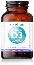 Viridian Vegan Vitamin D3 2000iu 60 Capsules