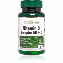 Natures Aid Vitamin B Complex + C 30 Tablets