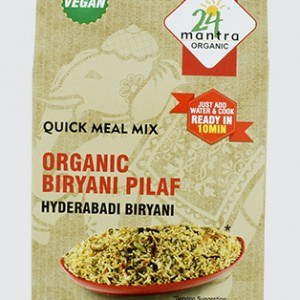 24 MANTRA ORGANIC BIRYANI PILF READY TO EAT 150GM