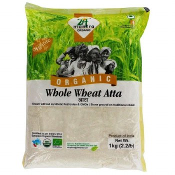 24 MANTRA ORGANIC WHOLE WHEAT ATTA 2LB
