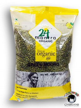 24 MANTRA ORGANIC MOONG WHOLE 4LB
