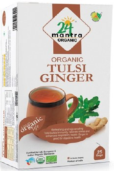 24 MANTRA ORGANIC TULSI GINGER TEA50G