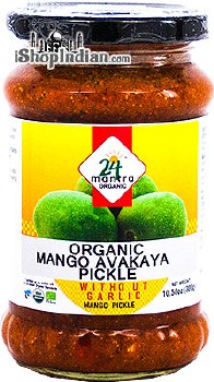 24MANTRA ORGANIC MANGO PICKLE WITHOUT GARLIC