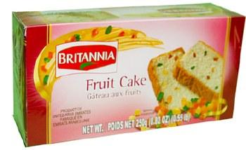 BRITANNIA FRUIT CAKE 250 GM