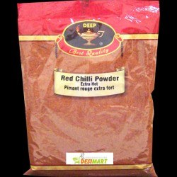 DEEP RED CHILLI POWDER EXTRAHOT 14OZ.