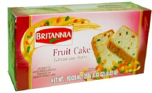 BRITANNIA FRUIT CAKE 250 GM
