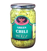 DEEP GREEN CHILLI PICKLE 26.5O